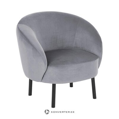 Pelēka samta krēsls (freja) (viss ,, zāles paraugs)