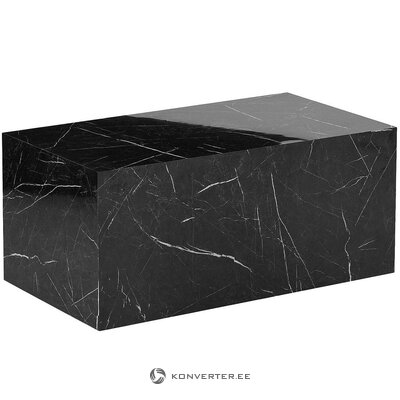 Marble imitation coffee table (lesley) (hall sample with flaws)