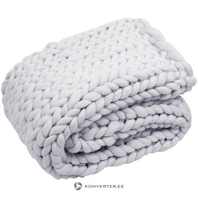 Knitted wool blanket (chunky) (whole, in a box)