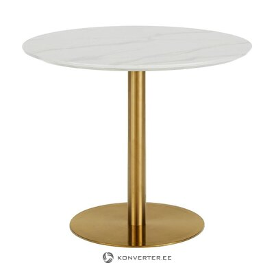 Round dining table with imitation marble (karla)
