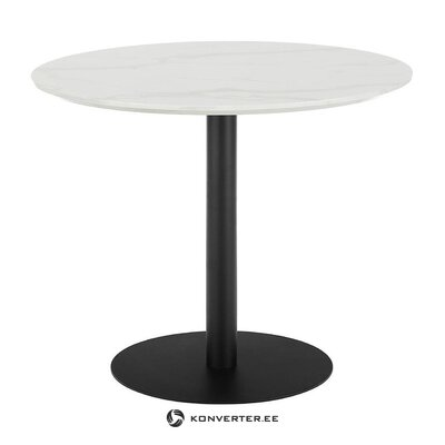 Round marble imitation dining table (karla)