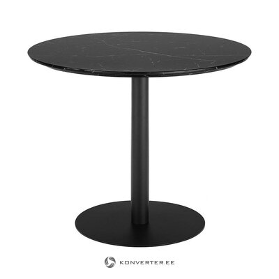 Black marble imitation dining table (karla) (whole, in a box)
