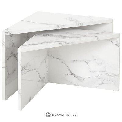 Marble imitation coffee table set (vilma) (whole, hall sample)