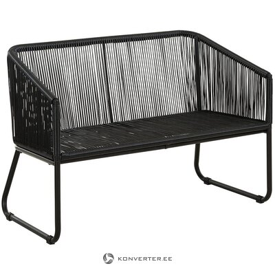 Black garden bench (azzure creek) (with beauty defects., Hall sample)