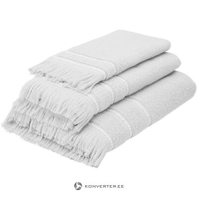 Gray-white towel set (mandulay)