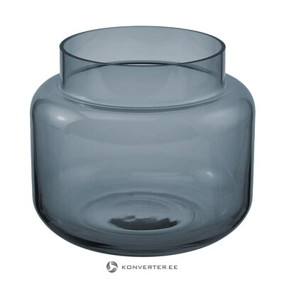 Blue glass flower vase (lasse) (whole, in a box)