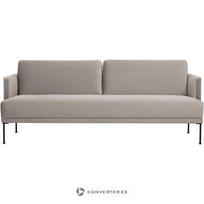 Smėlio spalvos aksominė sofa (laisva) (dėžutėje, visa)