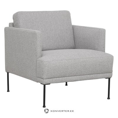 Light gray armchair (fluente) (with beauty defects., Hall sample)