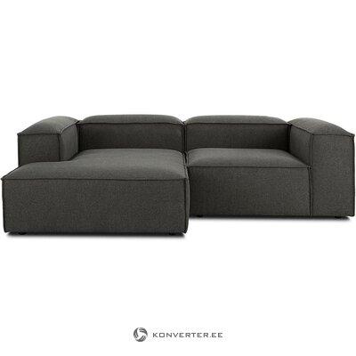 Tamsiai pilka kampinė sofa (skrydžio) (nepažeista, dėžutė)