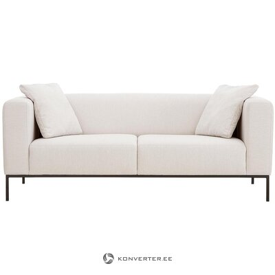 Beige-black sofa (carrie) (with beauty defects., Hall sample)