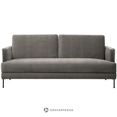 Gray-brown velvet sofa (fluente)