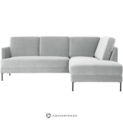 Light gray velvet corner sofa (fluente)