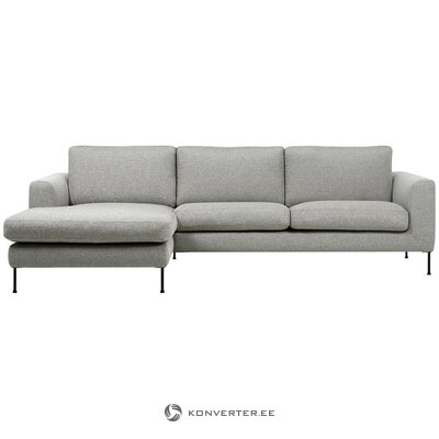 Light gray corner sofa (cucita)