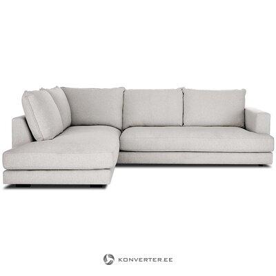 Pilka kampinė sofa (tribeca) (su trūkumu, salės pavyzdys)