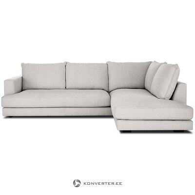 Pilka kampinė sofa (tribeca) (visa ,, dėžutėje)