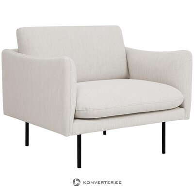 Light gray armchair (moby)
