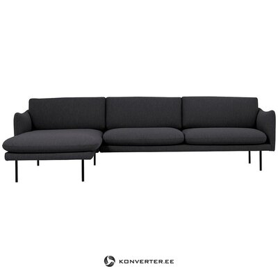 Dark gray corner sofa (moby) (whole, in box)