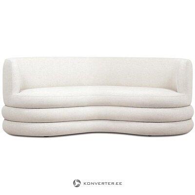 Светло-бежевый дизайнерский диван (соломон) (целиком, в коробке)