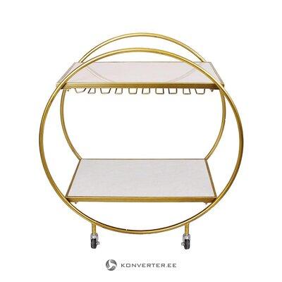 Золотая сервировочная тележка (interstil interiör) (с дефектами красоты, образец зала)