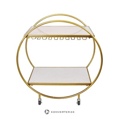 Golden serving trolley (interior interior) (whole, in box)