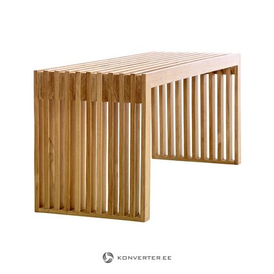 Solid wood bench (cinas) (whole, in box)