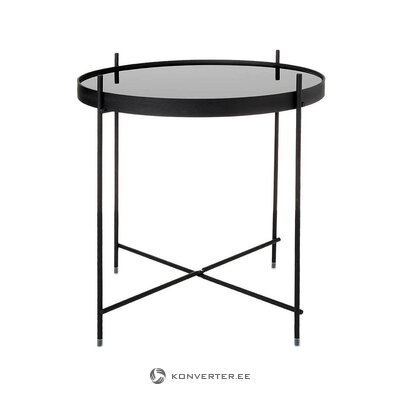 Black design coffee table (zuiver) (whole, hall sample)