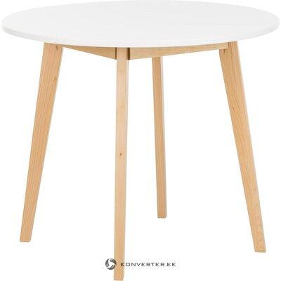 Стол обеденный круглый белый (actona) (целый, в коробке)