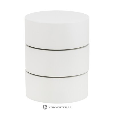 White design bedside table (actona) (whole, hall sample)