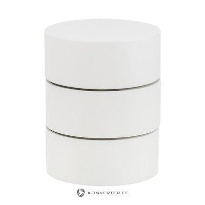 Valkoinen design yöpöytä (actona) (koko, salinäyte)