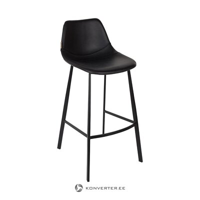 Black bar stool (dutchbone) (hall sample, with defect,)