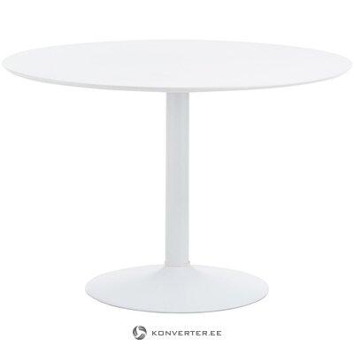 Balta apaļa pusdienu galds (interstil dänemark) (ar skaistuma defektu, zāles paraugs)