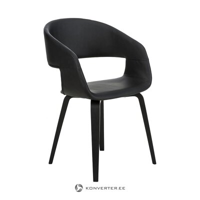 Black chair (interstil dänemark) (with beauty defects., Hall sample)