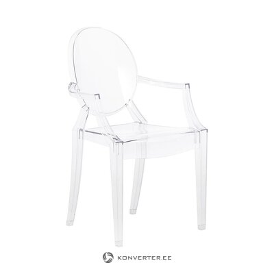 Transparent design chair (cartel) (hall sample, with flaws!)