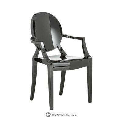 Dark gray design chair (cartel) (with beauty defects., Hall sample)