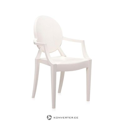 White design chair (cartel) (small flaw, hall sample)