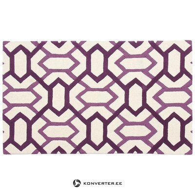 Purple and white rug (rug, in box)