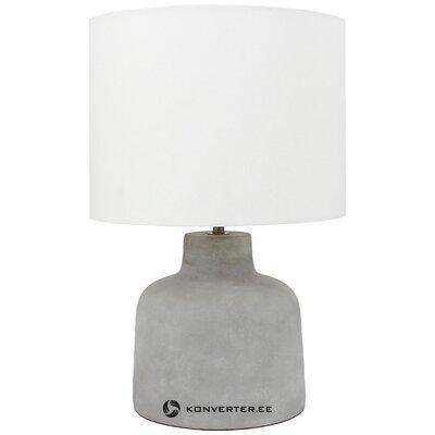 Настольная лампа серо-белая (ярмо) (холл образец небольшой косметический дефект)
