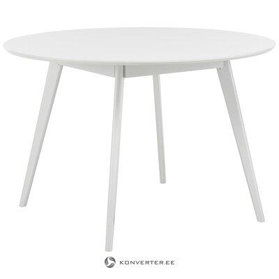 Balts apaļais galds (rowico) (ar defektiem zāles paraugs)
