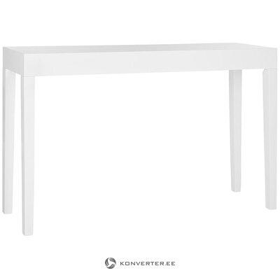 Valkoinen kapea konsolipöytä Kayson (safavieh) (kauneusvirheillä salinäyte)