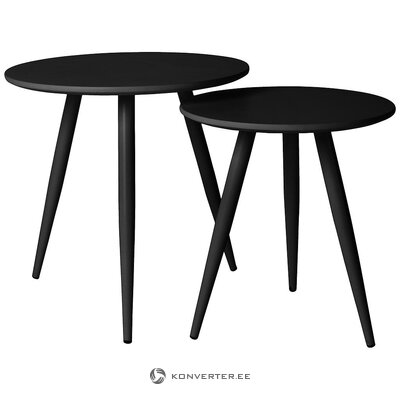 Black coffee table set 2-part (white label) (whole, in box)