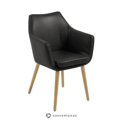 Black leather armchair (actona)