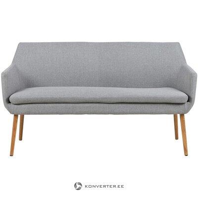 Pilka sofa (aktona) (salės pavyzdys, visas)