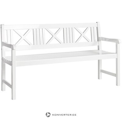 White solid wood garden bench (cinas) (whole, in box)