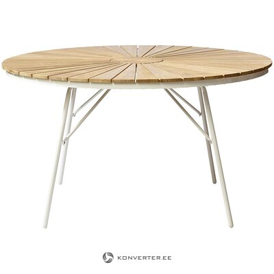 Teak round garden table (cinas)