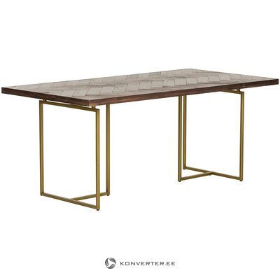 Brown-gold dining table (dutchbone)
