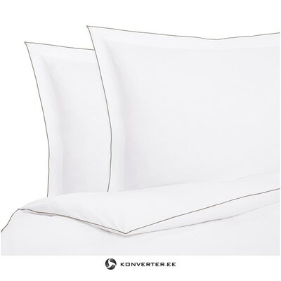 White bed sheet set 3-piece (marble) (in a box)