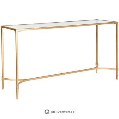 Gold console table (safavieh) (in box, intact)