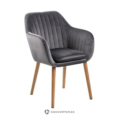 Dark gray-brown velvet chair (actona) (whole, in box)