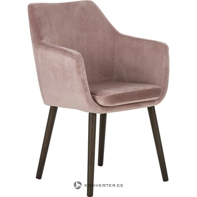 Pink-black armchair (actona) (whole, hall sample)