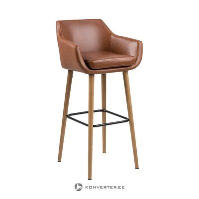 Dark brown bar stool (actona) (with beauty defect, hall sample)